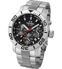 Tw Steel Tw706 Grandeur Stainless Diver's Watch Stainless Steel