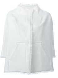 Gianluca Capannolo Front Pocket Frayed Jacket White
