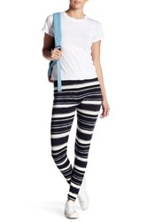 Threads For Thought Fleece Graphic Print Legging Blue