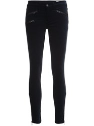 Rag And Bone Jean Low Rise Zipped Skinny Trousers Blue
