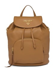 Prada Pebbled Leather Logo Backpack 60
