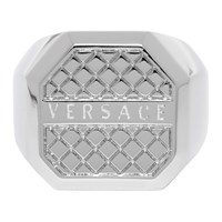 Versace Silver Octagonal Ring