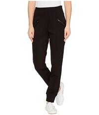 Jag Jeans Addie Jogger In Double Knit Ponte In Black Black Women's