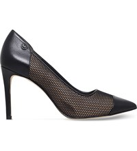 Michael Michael Kors Leilah Leather And Mesh Courts Black