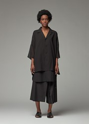 Yohji Yamamoto Y's By 'S Double Layer Short Sleeve Shirt In Black Size 2