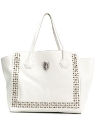 Philipp Plein Studded Tote White