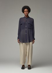 Yohji Yamamoto Y's By 'S Double Pocket Shirt In Navy Size 2