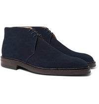 George Cleverley Nathan Suede Chukka Boots Blue