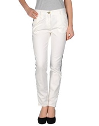 Shine Casual Pants White