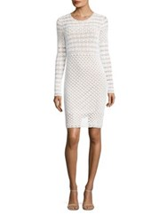 Michael Michael Kors Crochet Sweater Dress White
