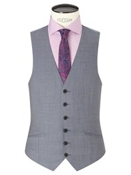 Richard James Mayfair Wool Sharkskin Slim Fit Waistcoat Slate