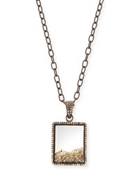 Diamond Box Pendant Necklace 35' Silver Siena Jewelry