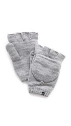 Plush Fleece Lined Texting Mittens Heather Grey