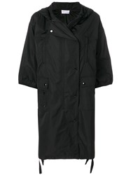 Red Valentino Cropped Sleeve Raincoat Polyester Black