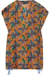 Emilio Pucci Printed Silk Mini Dress Saffron