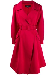 Paule Ka Belted Satin Trench Coat 60