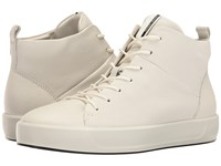 Ecco Soft 8 High Top White Cow Leather Women's Lace Up Casual Shoes