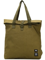 Stussy Canvas Tote Bag Green