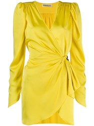 Nineminutes Mini Wrap Dress Yellow