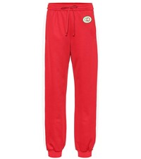 Gucci Cotton Blend Track Pants Red