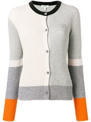 Kenzo Colour Block Cardigan Grey