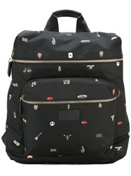 Paul Smith Multi Print Backpack Black