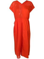Mauro Grifoni Loose Fit Dress Red