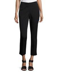 Neiman Marcus No Waist Invisible Fly Ankle Trousers Black