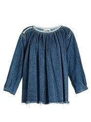 Chloe Smocked Denim Blouse