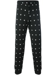Mcq By Alexander Mcqueen Woven Swallow Trackpants Black