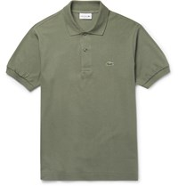 Lacoste Slim Fit Cotton Pique Polo Shirt Green