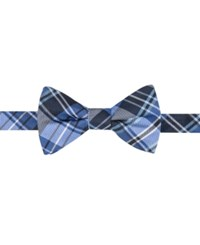 Countess Mara Men's Duane Plaid Pre Tied Bow Tie Blue