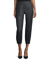 Escada Mid Rise Cropped Jogger Pants Anthracite