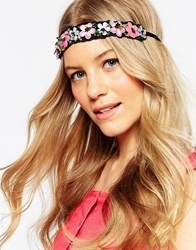 Asos Sequin Cluster Flower Headband Multi