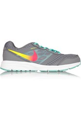 Nike Air Relentless 4 Leather And Mesh Sneakers Gray
