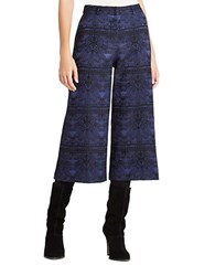 Bcbgeneration Cropped Wide Leg Pants Blue Combo