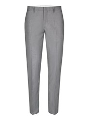 Topman Grey Skinny Fit Suit Trousers