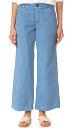 Free People Relaxed Work Pants Blue
