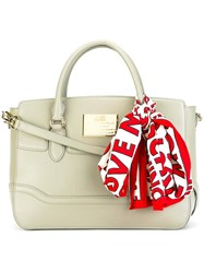 Love Moschino Scarf Detail Tote Green