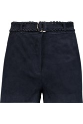 Elizabeth And James Lalette Suede Shorts Blue