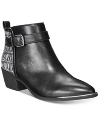 Circus By Sam Edelman Harlow Booties Women's Shoes Black White