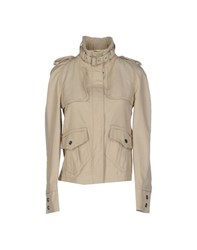 Trussardi Jeans Coats And Jackets Jackets Women Beige