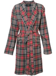 Fear Of God Checked Robe Coat Men Silk Wool L Red