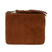 Maple Suede Half Zip Wallet Neutrals