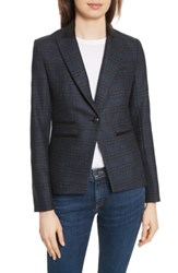 Veronica Beard Women's Gia Peak Lapel Blazer Blue Navy