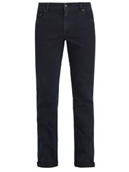 Prada Slim Leg Stretch Denim Jeans Indigo