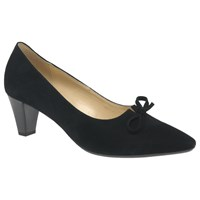 Gabor Pearl Pointed Toe Court Shoes Black