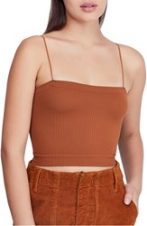 Bdg Urban Outfitters Bungee Strap Tube Top Brown