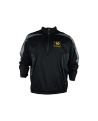 Antigua Men's Missouri Tigers Discover Half Zip Pullover Jacket Black Gray