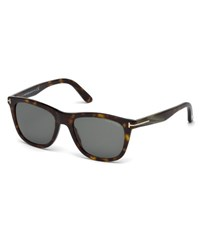 Tom Ford Andrew Square Shiny Acetate Sunglasses Dark Havana